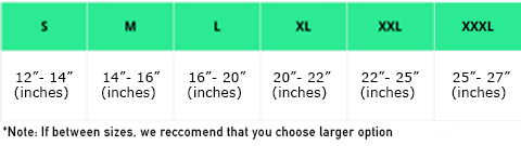 knee support sizing