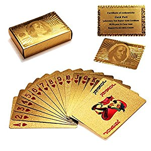 24K Gold Playing Cards - AllstarProducts