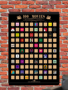 100 Movies Scratch-Off Poster - AllstarProducts