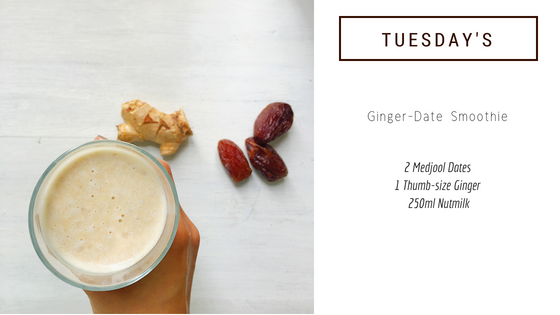 5-Minute Smoothie Recipe #2: Ginger-Date Smoothie