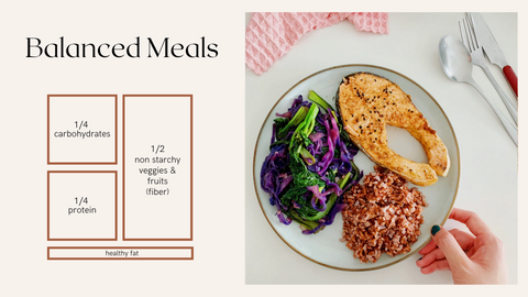 tips to creating healthy meals_balanced plate