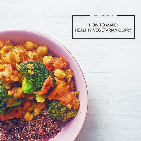 how to make healthy vegetarian curry