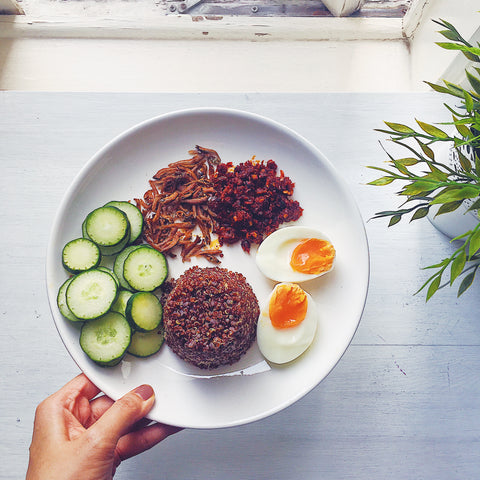 malaysian food made healthy: healthy nasi lemak recipe