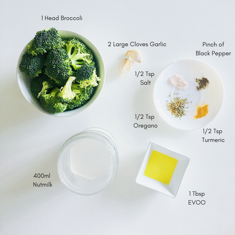 easy vegetable soup recipe: broccoli soup and ingredients
