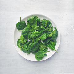 healthy lunch: fresh spinach