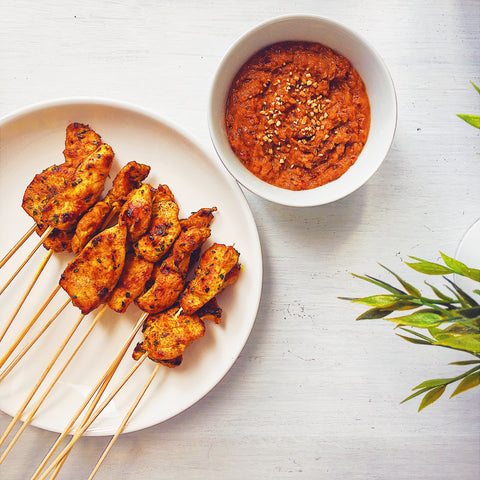 My Top 5 Turmeric Recipes: chicken satay