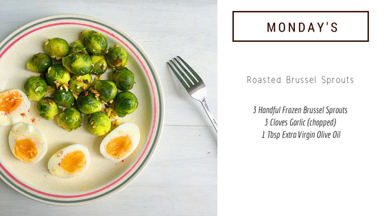 easy veggie dish: roasted brussel sprouts