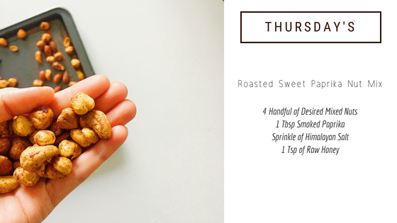 easy healthy snack idea: roasted sweet paprika nut mix