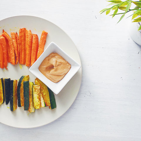 My top 5 turmeric recipe: turmeric roasted veggie dip