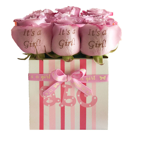 Printed Girl New Born bouquet - TCS Sentiments Express