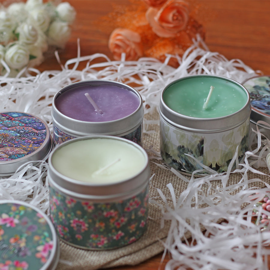 Scented tin candles 3pcs