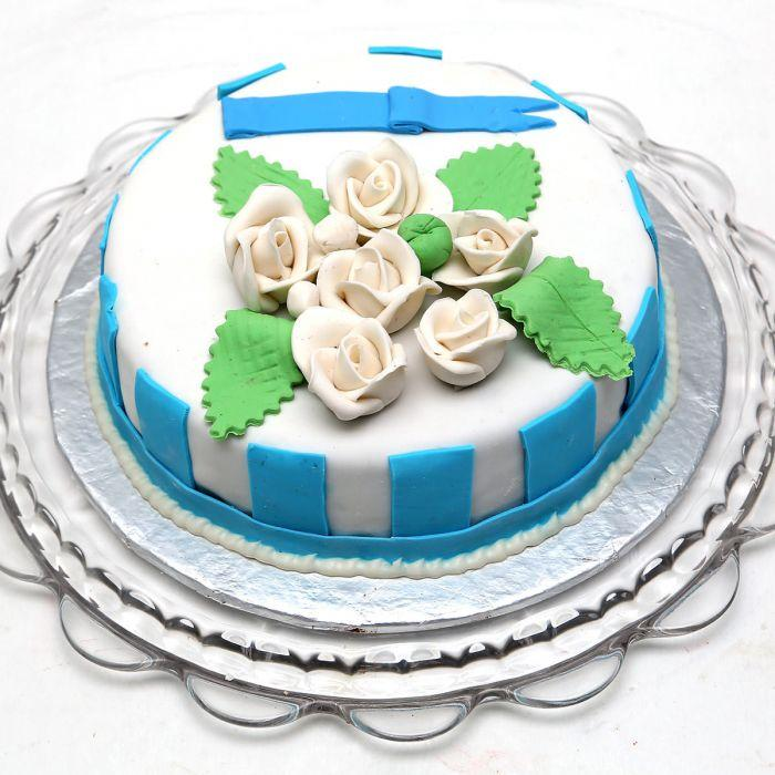 White Rose Cake 3lbs - TCS Sentiments Express