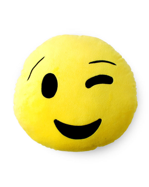 Winking Face Emoji Cushion - Sentiments Express