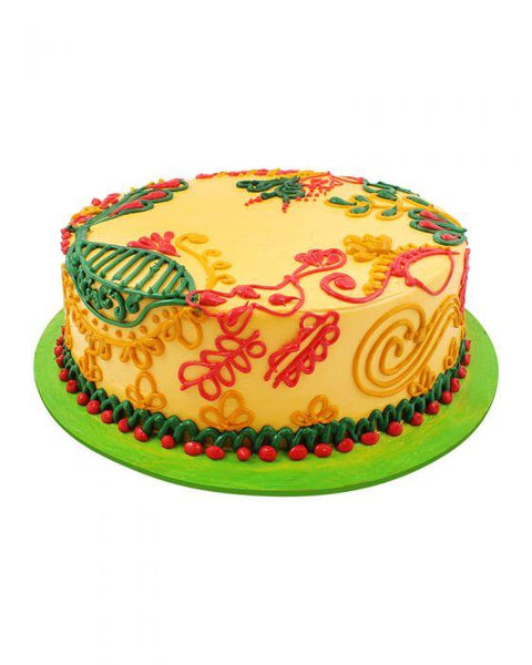 Mehndi Art Cake 3lbs - TCS Sentiments Express