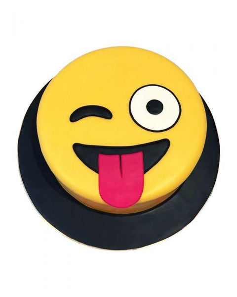 Tongue Out Winky Face Emoji Cake 3LBS