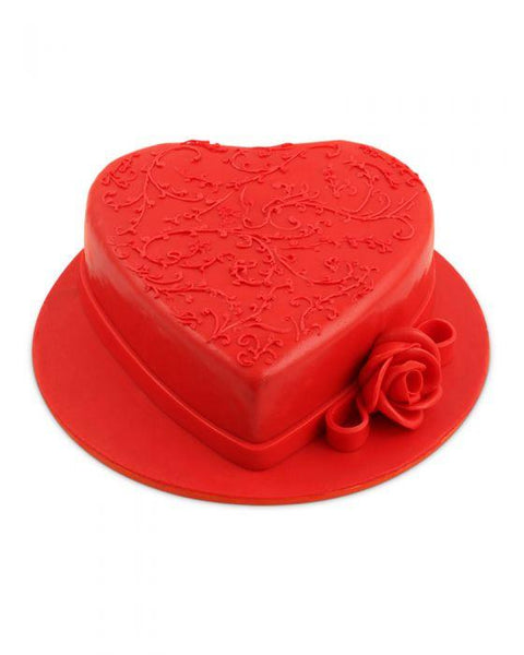 Heart Shaped Fondant Cake 3LBS By Hobnob - Sentiments Express