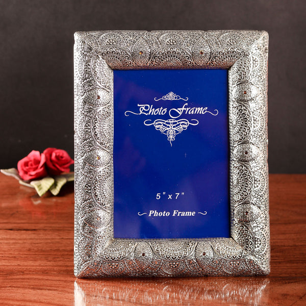 Silver carved photo frame - TCS Sentiments Express