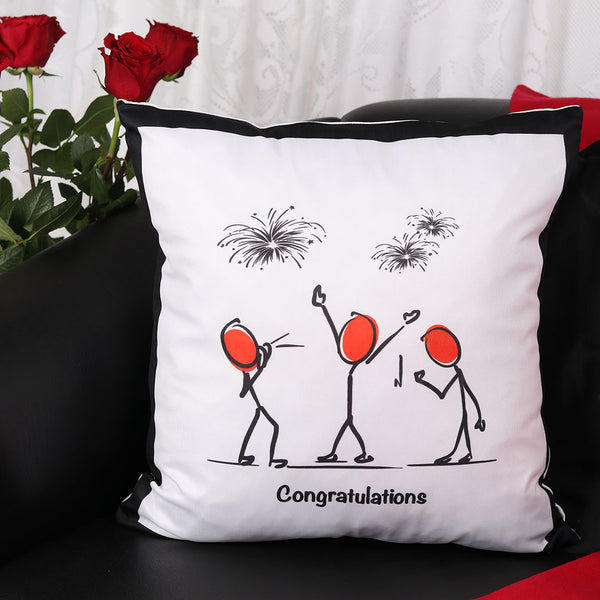 Congratulations Cushion - TCS Sentiments Express