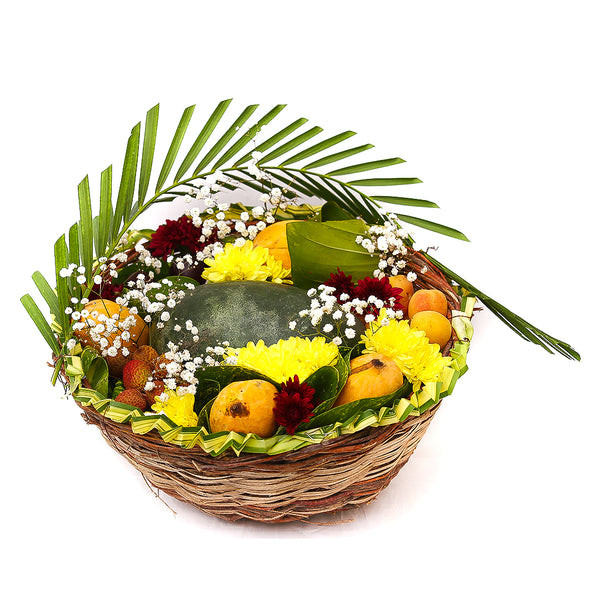 Fresh & Fruity Basket By Floristapk - TCS Sentiments Express