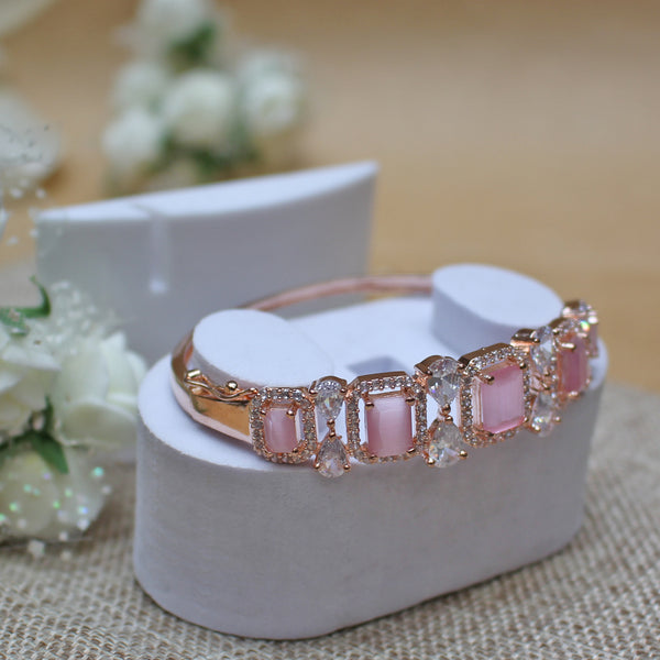 Silver Plated Openable 5 Pink Bracelet - TCS Sentiments Express