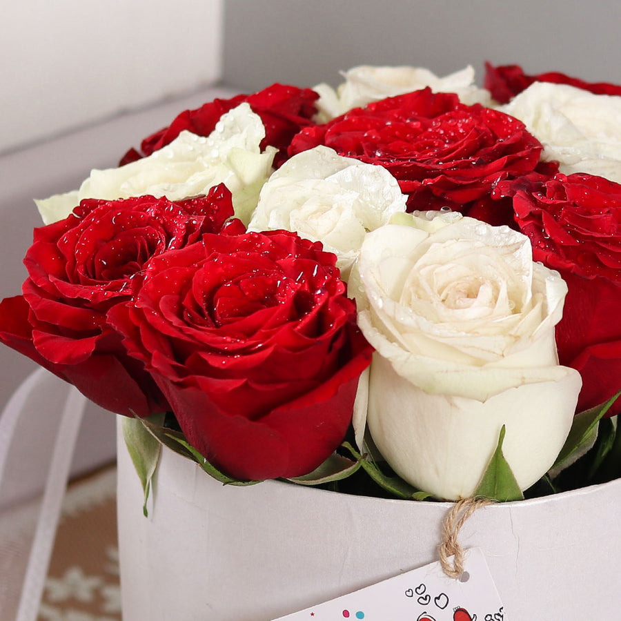 White & Red Rose Box - TCS Sentiments Express