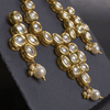 Kundan Necklace And Earrings Mala Set - TCS Sentiments Express