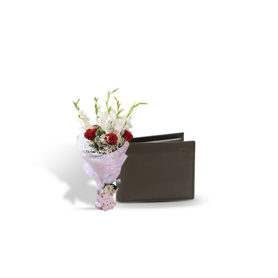 Lavish Bouquet with MJafferjees Wallet for Him - TCS Sentiments Express