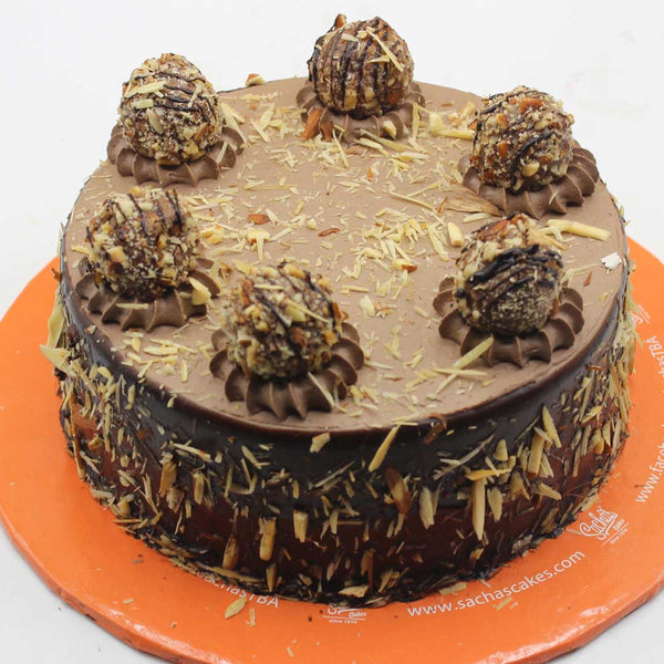 Chocolate Almond Truffle Cake - TCS Sentiments Express