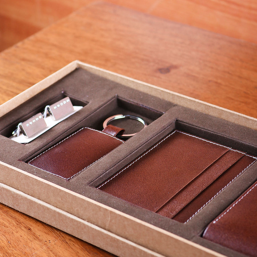 Brown Leather Gift Set - TCS Sentiments Express