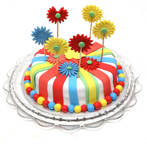 Colorful Flowers Cake 3LBS - TCS Sentiments Express