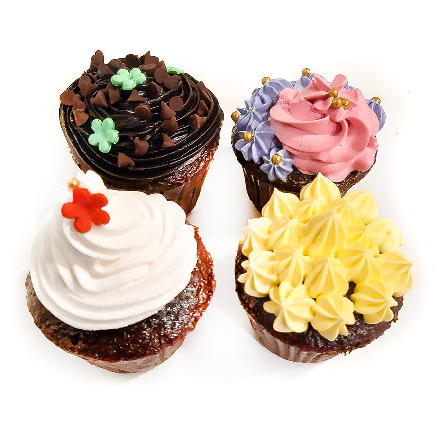 Assorted Cream Cupcakes - 4 PCS. BOX By Sweet Spoon - TCS Sentiments Express