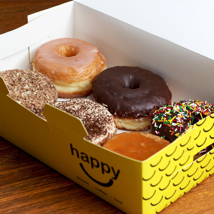 Assorted donuts - 6PC By Happy Donuts - TCS Sentiments Express