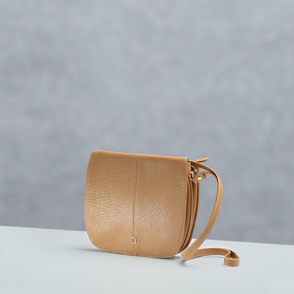 Crossbody Bag M Jafferjees Beige and Gold - TCS Sentiments Express