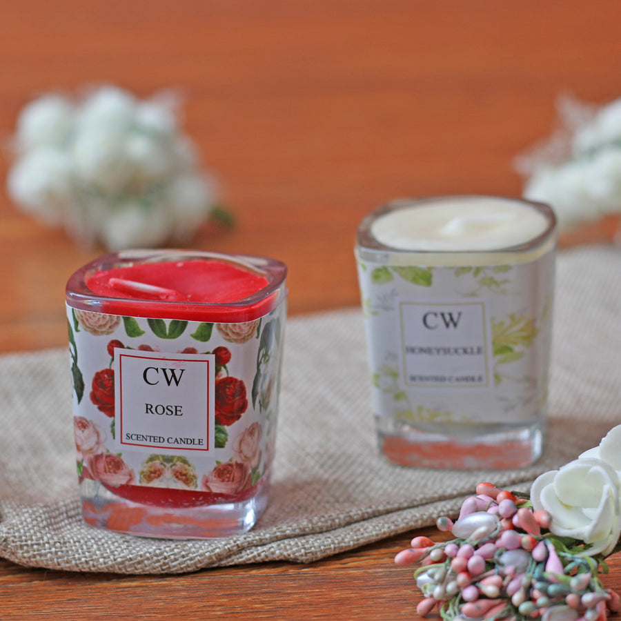 Scented glass candles 2pcs
