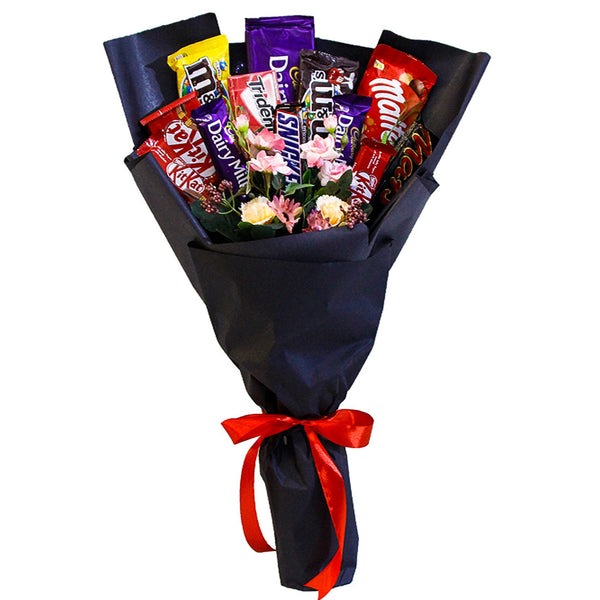 Chocolate Bouquet Black By Blossoms - TCS Sentiments Express