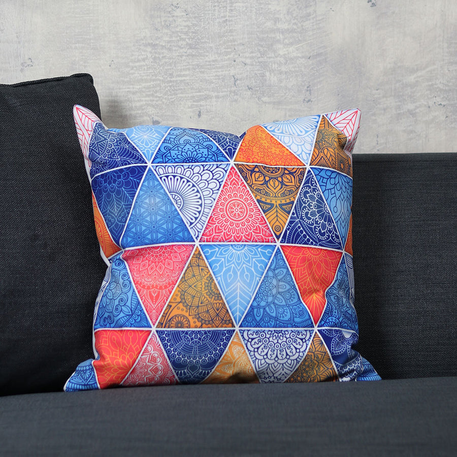 Geometric Digitally Printed Cushion - TCS Sentiments Express
