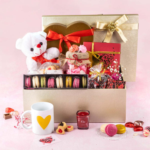 Grand Gesture of Love Leather Hamper - TCS Sentiments Express