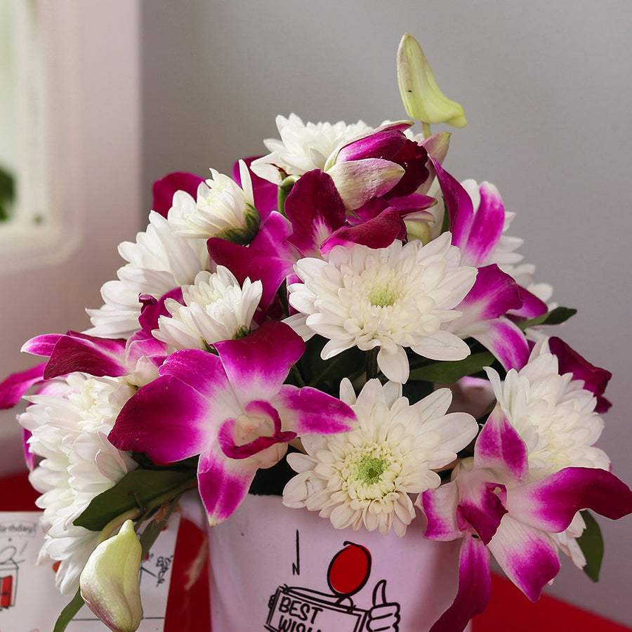 All the Best Mug Flower Arrangement - TCS Sentiments Express