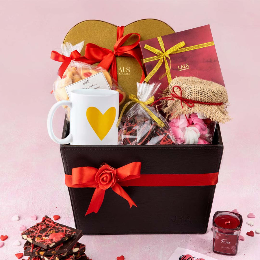 CELEBRATE LOVE LEATHER HAMPER