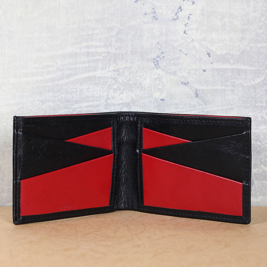 M Jafferjees Red & Black Wallet - TCS Sentiments Express