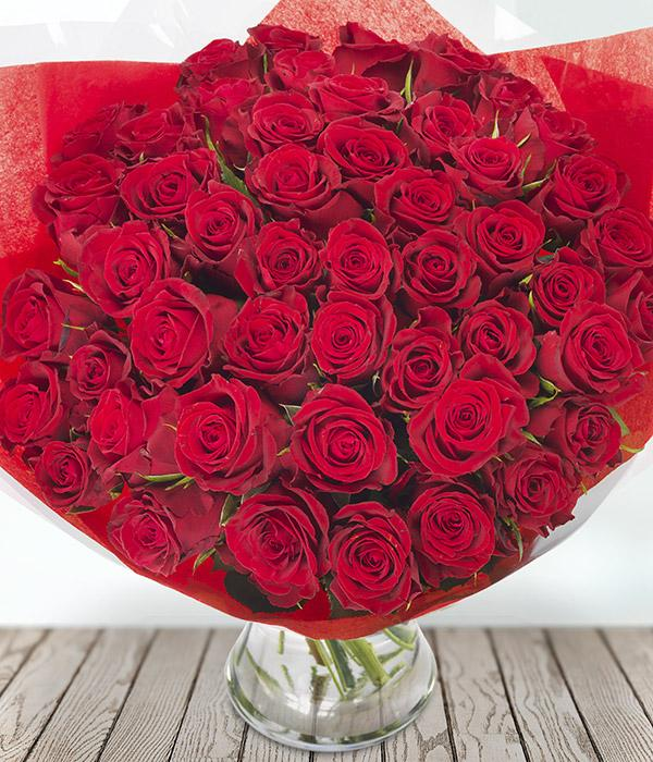 50 Red Roses - TCS Sentiments Express
