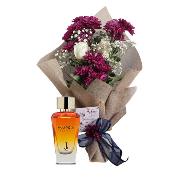 Essence for her & Classic Violet Bouquet