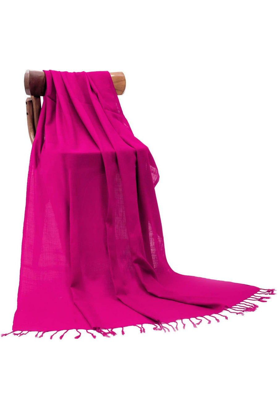 Shocking Pink Plain Shawls