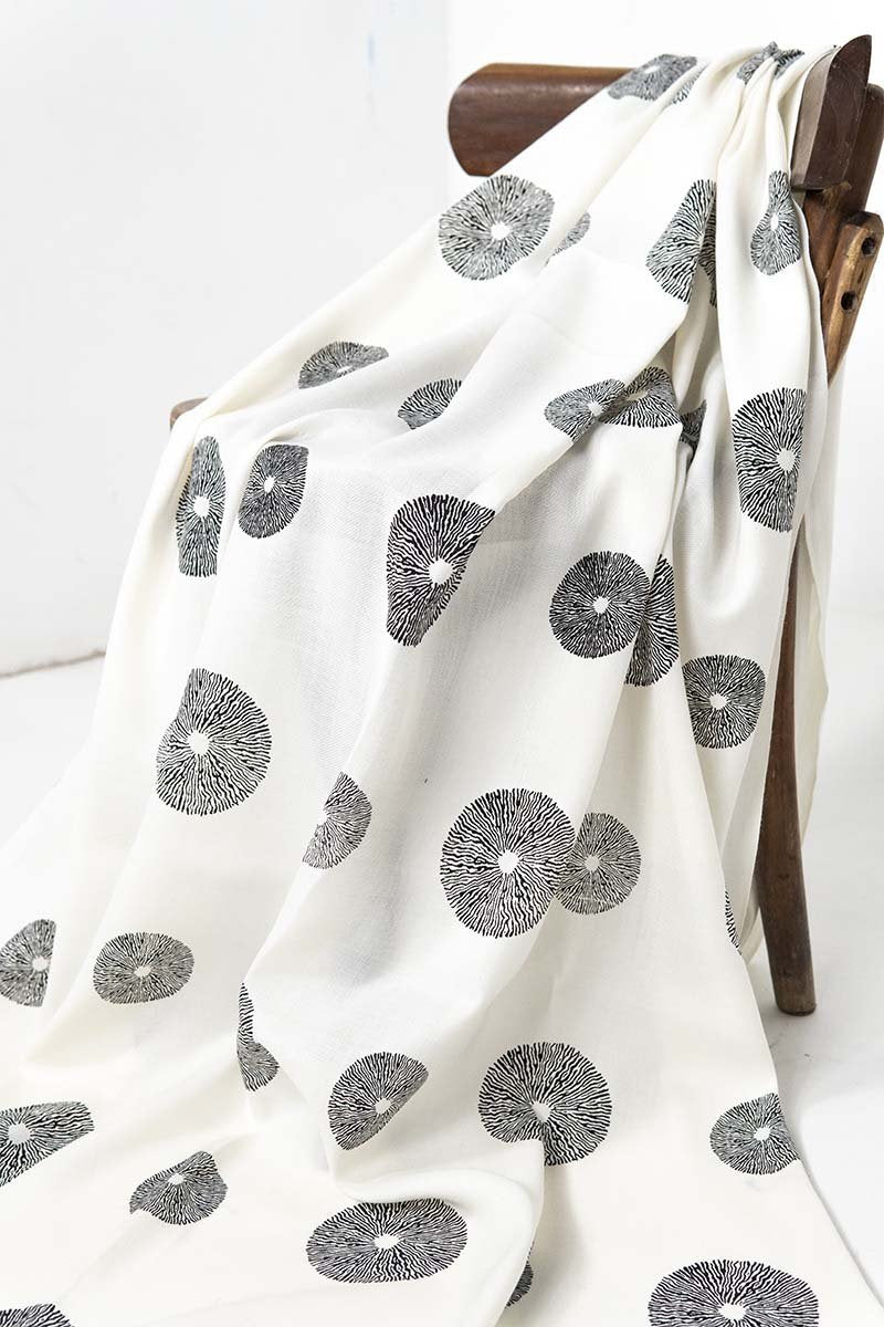 Off White Circles Shawl