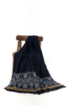 Navy Blue Mirrors Shawl