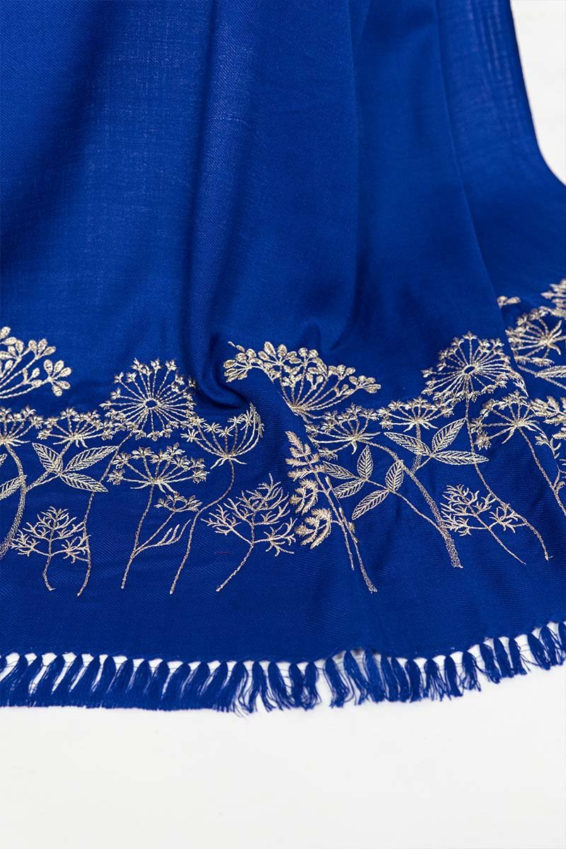 Royal Blue Garden Shawl