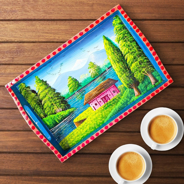 Wooden Tray Bluehouse - TCS Sentiments Express