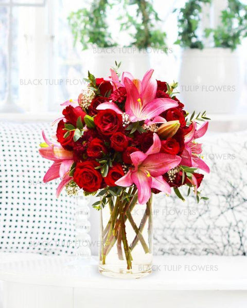 Cheerful Stargazer Bouquet - TCS Sentiments Express