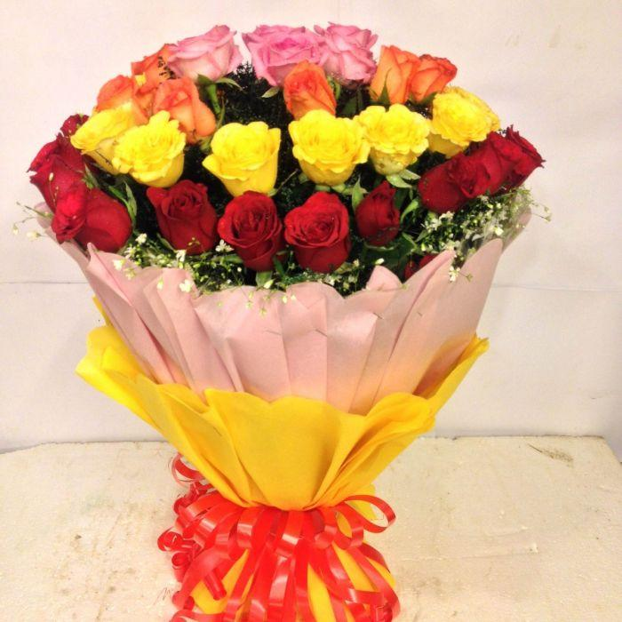 One dozen Mix Roses - TCS Sentiments Express