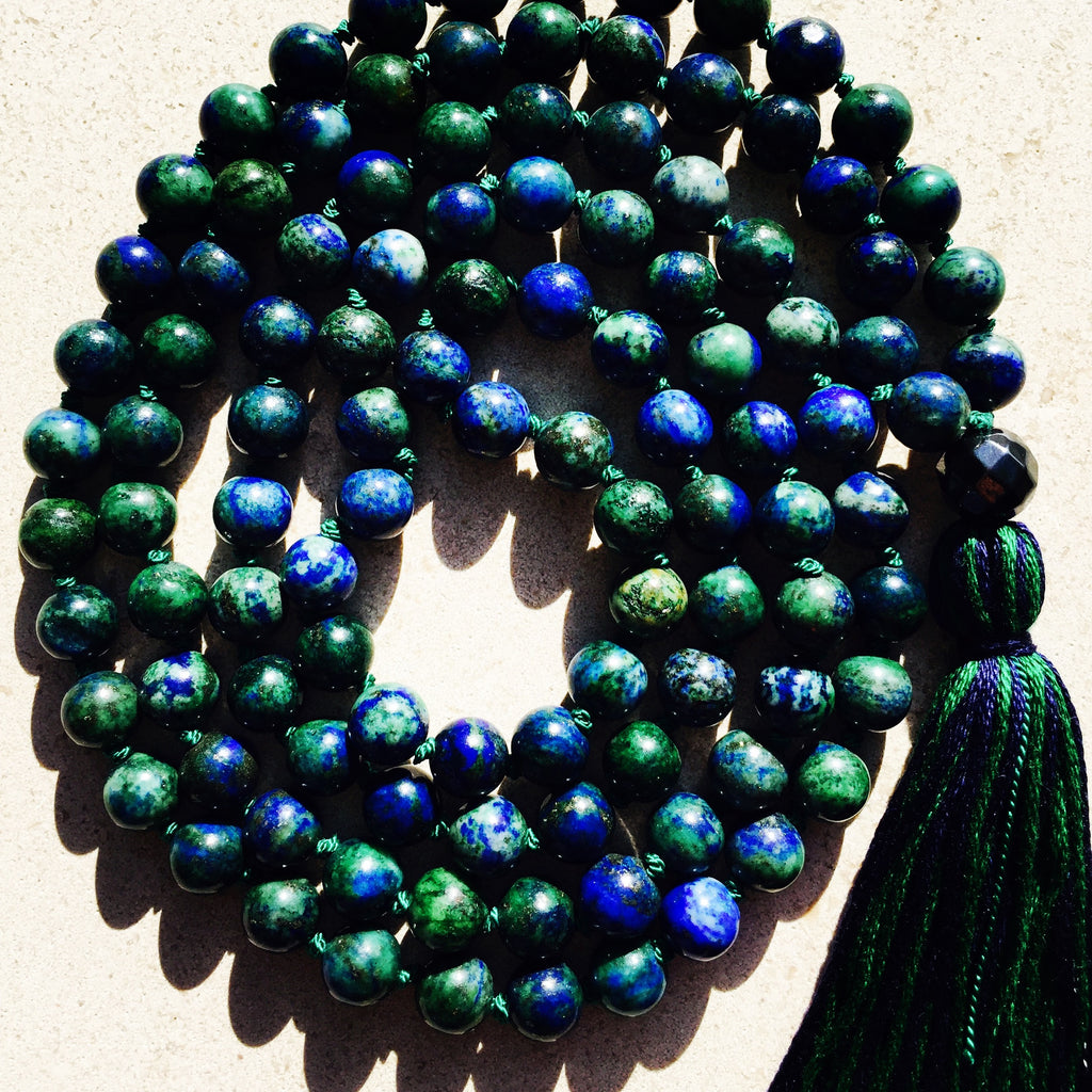 Sara Ann Azurite and Malachite Mala